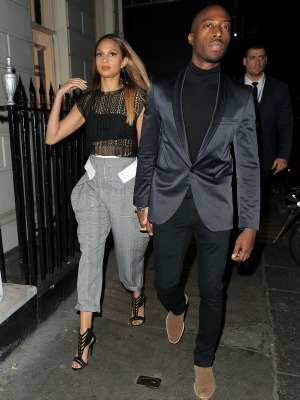 Britain's Got Talent judges on a night out at The Arts Club in Mayfair, 10 March 2015: Alesha Dixon