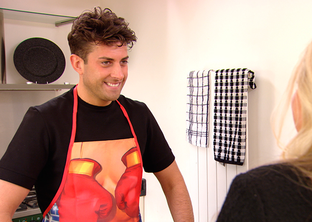 TOWIE episode to air 15 March 2015: Arg cooks salad for mum and sister.