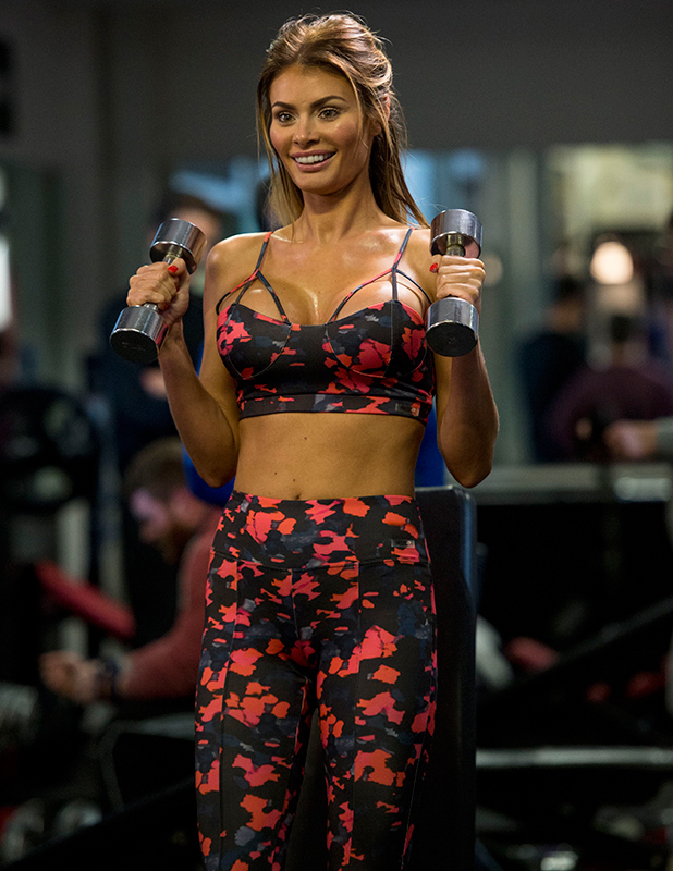 The Only Way is Essex' cast filming, Brentwood, Britain - 09 Mar 2015 Elliott Wright and Chloe Sims at the gym