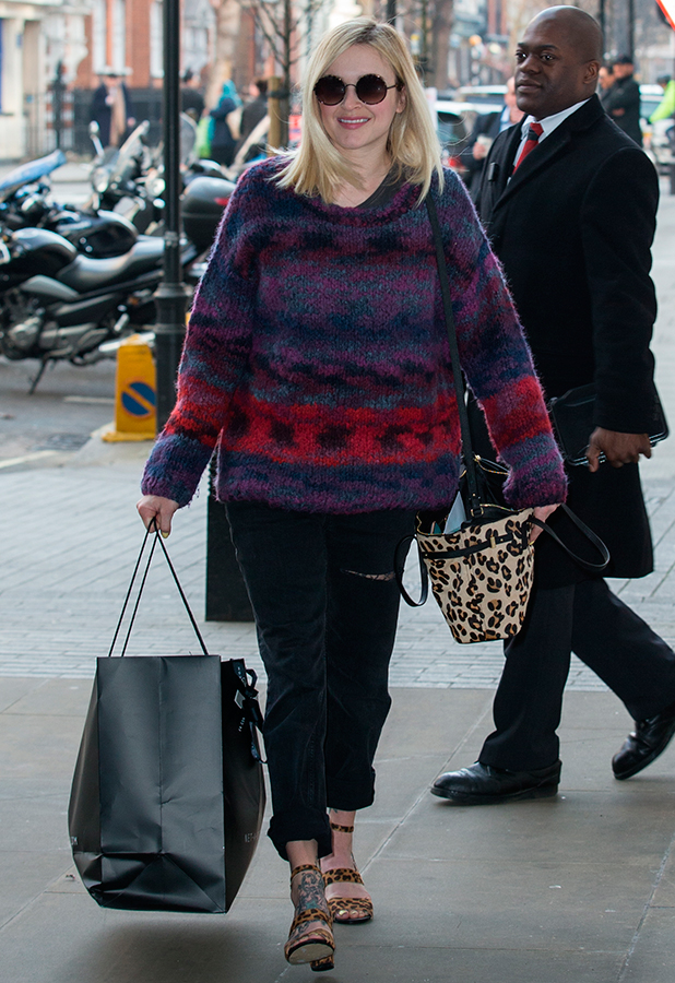 Fearne Cotton arriving at BBC in Portland Place to host Live Lounge on Radio 1, 12 March 2015