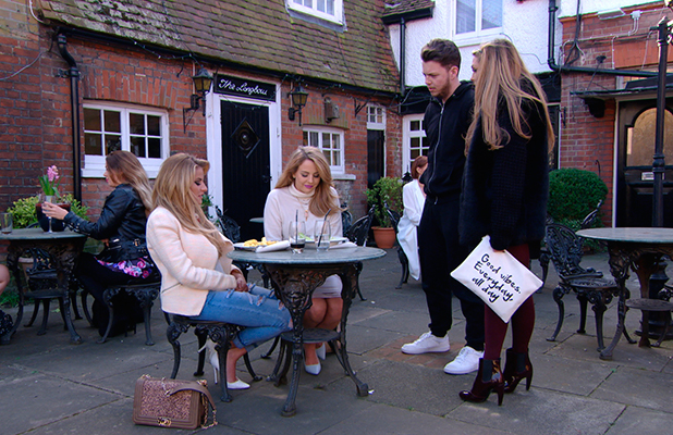 TOWIE publicity still for episode 11 March 2015: Georgia isn't happy with Fran