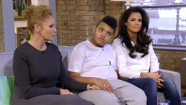 Katie Price, mum Amy and son Harvey interviewed on This Morning, 13 March 2015