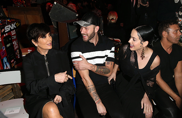 Kris Jenner, Johnny Wujek and Katy Perry attend the Givenchy show as part of the Paris Fashion Week Womenswear Fall/Winter 2015/2016 on March 8, 2015 in Paris, France.