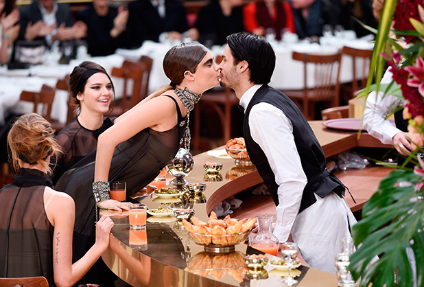 Cara Delevingne, Kendall Jenner and Baptise Giabiconi, Chanel show, Autumn Winter 2015, Paris Fashion Week, France - 10 Mar 2015