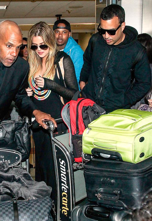 Khloe Kardashian and French Montana at LAX Airport, Los Angeles, America - 08 Mar 2015