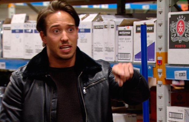 TOWIE publicity still for episode 11 March 2015: Lockie and Tommy argue