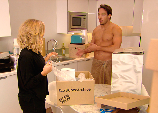 TOWIE episode to air 15 March 2015: Danielle and Lockie move into new flat but Dani's distracted by rumours she's heard about Georgia and Tommy.