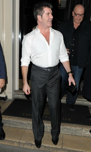 Britain's Got Talent judges on a night out at The Arts Club in Mayfair, 10 March 2015: Simon Cowell