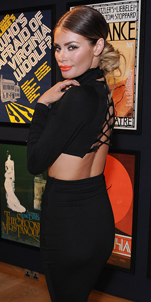 Chloe Sims attends the Terrence Higgins Trust auction at Christie's King Street on March 12, 2015 in London, England.