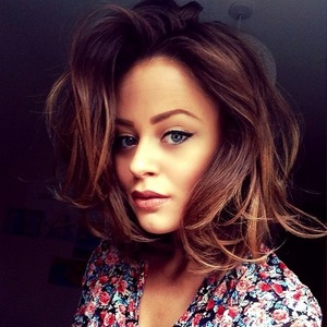 Emily Atack debuts new blonde highlights, Instagram 16 March
