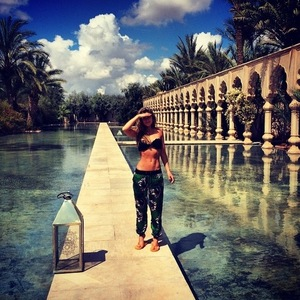 Lauren Hutton and Spencer Matthews in Marrakech, Morocco 19 March