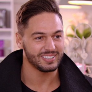 TOWIE's Mario Falcone speaking to Ferne in the florists - 15 March 2015.