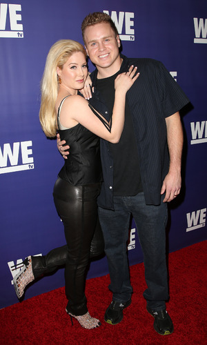 Heidi Montag and Spencer Pratt at We tv's The Evolution of Relationship Reality Shows - Arrivals - 19/3/2015.