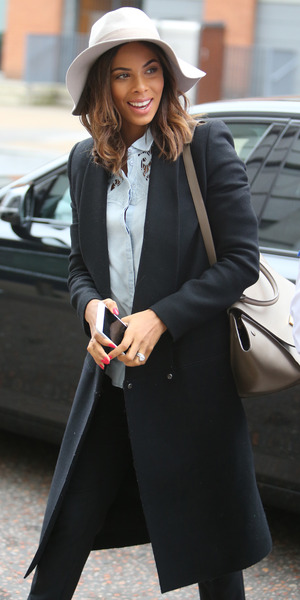 Rochelle Humes outside the ITV Studios, Southbank, London 19 March