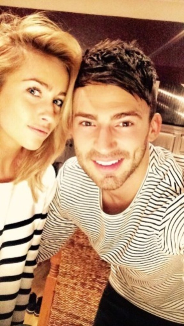 Jake Quickenden and girlfriend Danielle Fogarty Twitter Pic 26/02/15
