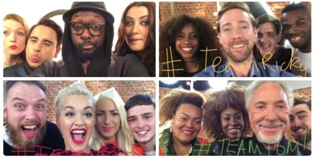 The Voice UK - Top 12 acts and judges - 18 March 2015.