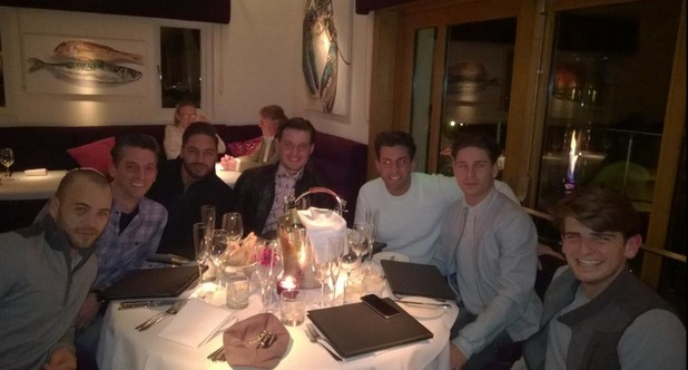 TOWIE stars celebrate Charlie Sims' birthday in Brentwood, Essex, 17 March 2015