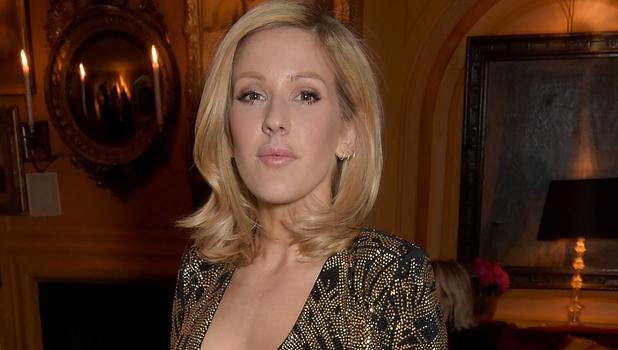 Ellie Goulding debuts new shorter hair last night (17 March)