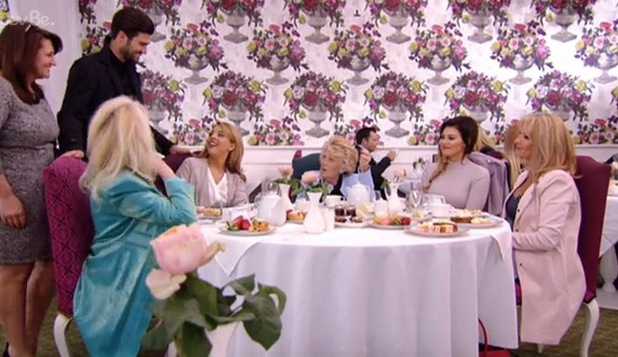 Lydia Bright enjoys afternoon tea with her mum Debbie Douglas, and Jessica Wright and her mum Carol - 15 March.