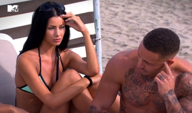 Emily Colley and Ashley Cain, Ex On The Beach, MTV 17 March