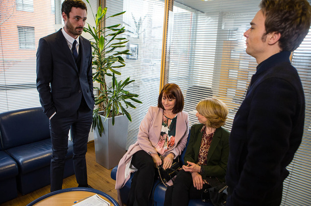 Corrie, Callum and David at mediation, Wed 18 Mar