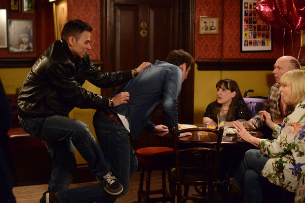 EastEnders, Martin drunk at Donna's party, Fri 20 Mar
