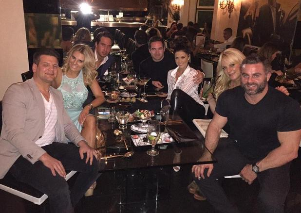 Katie Price and Kieran Hayler dine out with TOWIE's Danielle Armstrong and James 'Lockie' Lock - 18 March 2015.