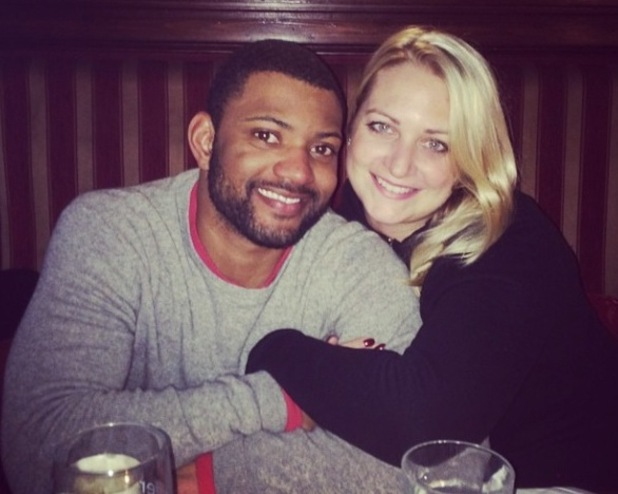 JLS star JB Gill and his wife Chloe in Austria - 9 February 2015.