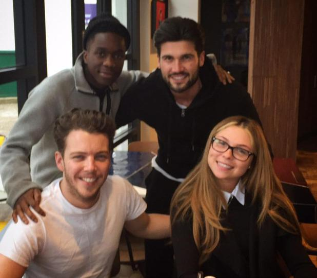 Tinchy Stryder hangs out with TOWIE's Diags, Fran Parman and Dan Edgar - 19 March 2015.
