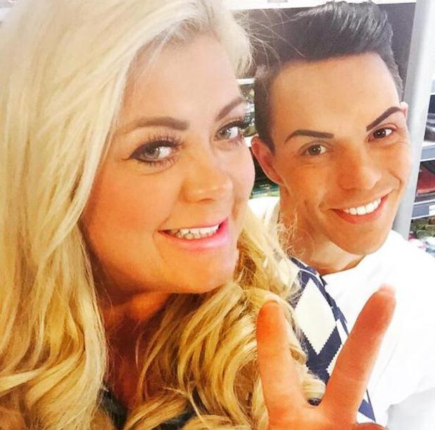 TOWIE's Bobby takes a selfie with Gemma during filming - 17 March 2015.