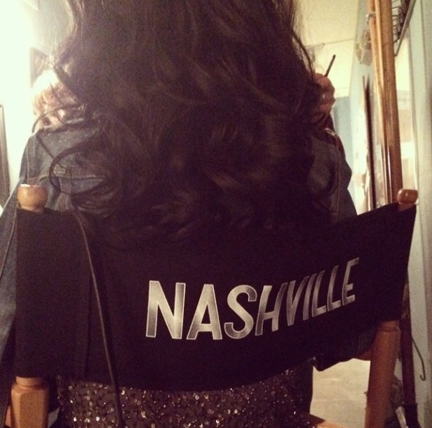 Christina Aguilera teases picture from the set of Nashville - 9 March 2015.