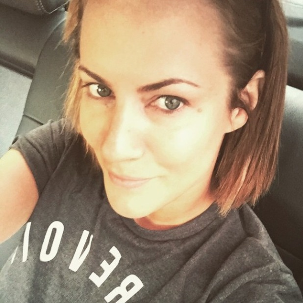 Caroline Flack poses with no make-up on, 16 March 2015