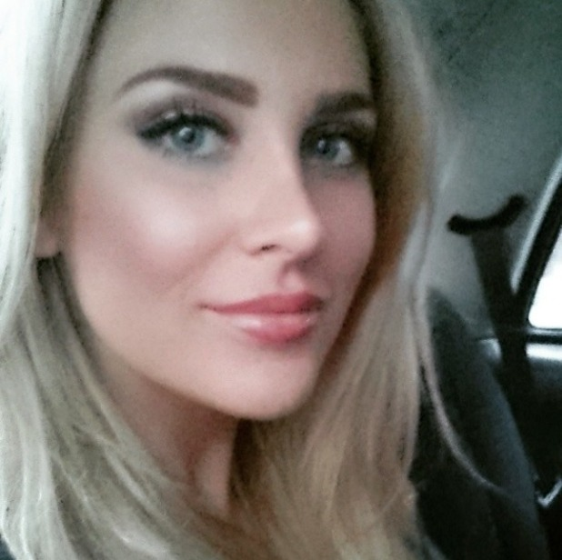 Stephanie Pratt reveals new darker brows after having her eyebrows done at iBrows Etc, London, 18 March 2015