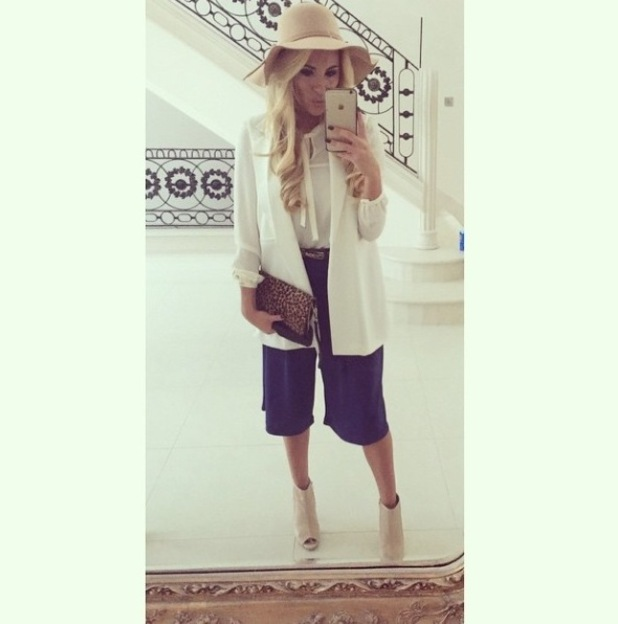 Georgia Kousoulou wearing culottes with new hair