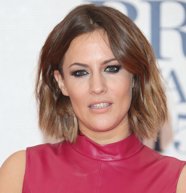 Caroline Flack The Brit Awards 2015 (Brits) held at the O2 - Arrivals, 25 February 2015