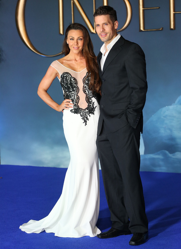 Michelle Heaton and Hugh Hanley attend the Cinderella premiere at Odeon, Leicester Square, London 19 March