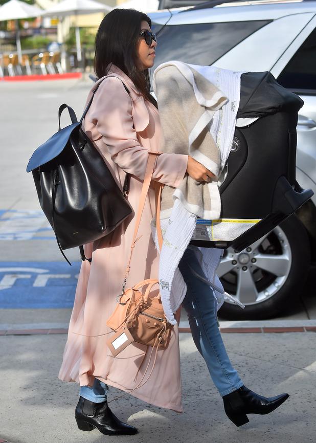 Kim and Kourtney Kardashian take their daughters to ballet dance - 19 March 2015.
