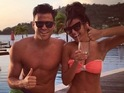 Mark Wright and Michelle Keegan in St Vincent, Caribbean 16 March