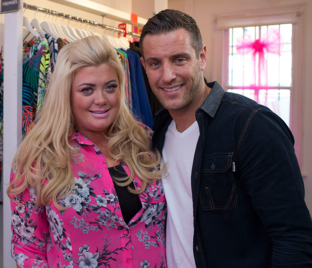 Filming at Gemma Collins ' boutique with Gemma Collins, Elliott Wright and Lockie 13 Mar 2015