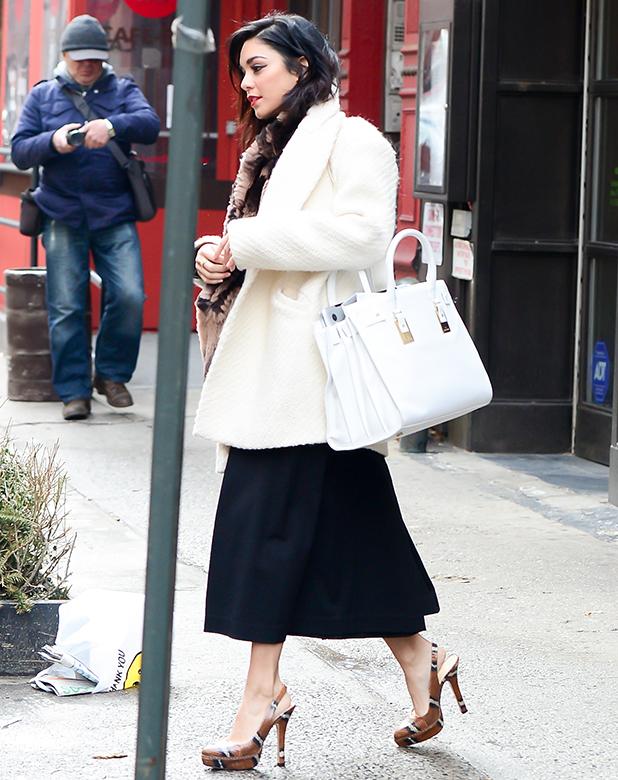 Actress Vanessa Hudgens is seen in Soho on March 17, 2015 in New York City
