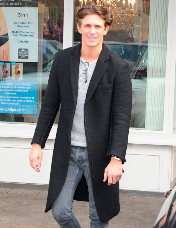 Jake Hall. Amy Childs launches 3D Lipo at her salon in Brentwood, Essex, 17 March 2015