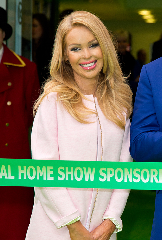 Katie Piper attends a photocall to launch the Ideal Home Show at Earls Court on March 20, 2015 in London, England.