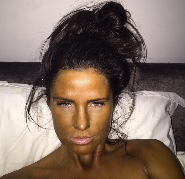 Katie Price shows off her fake tanning, 18 March 2015