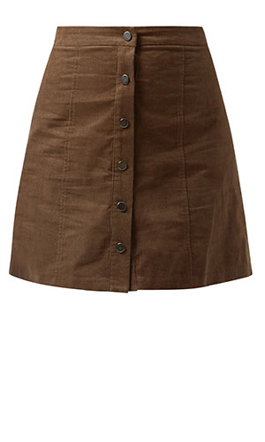 New Look suede button down skirt £19.99