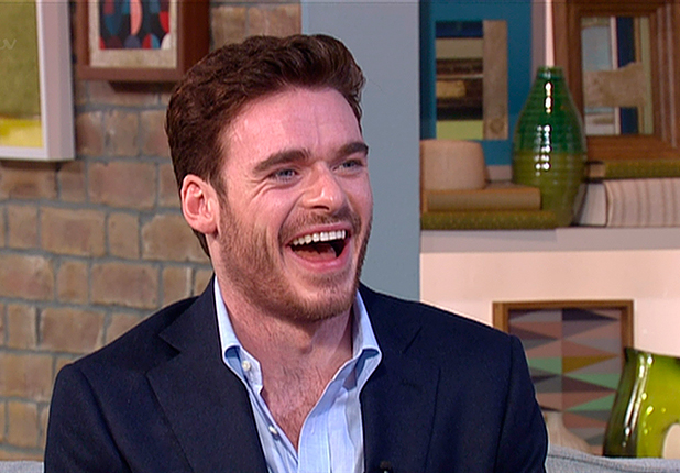 Richard Madden promoting his new film, 'Cinderella', on 'This Morning'. Broadcast on ITV1 HD, 20 March 2015