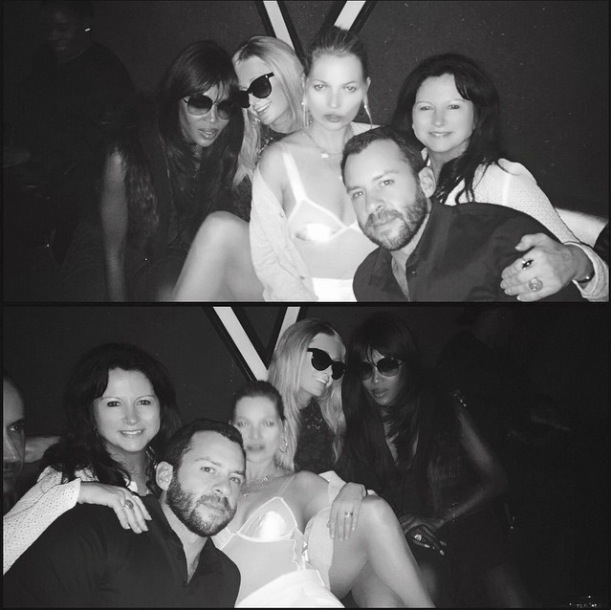 Paris Hilton partys with Naomi Campbell and Kate Moss in Hong Kong