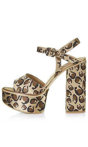 Topshop leopard platform heels £55