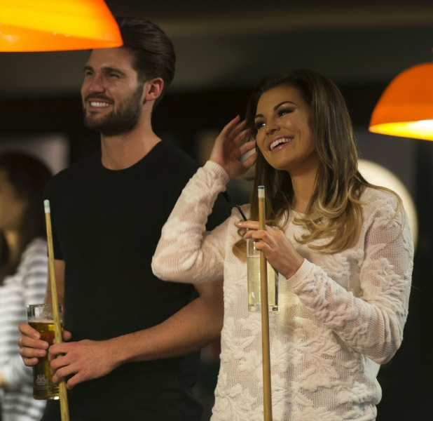 The Only Way is Essex' cast filming, Britain - 17 Mar 2015 Chloe Sims, Elliott Wright, Jessica Wright and Dan Edgar