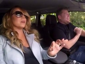 Mariah Carey and The Late Late Show host James Corden do karaoke - 25 March 2015.