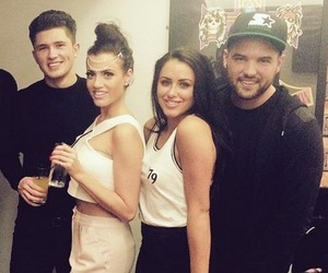 Jordan Davies, Ricky Rayment, Marnie Simpson and Sophie Newton at Usher Concert, London O2 arena, Twitter 26 March